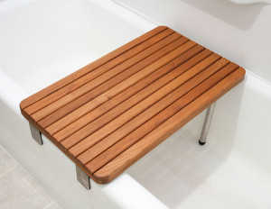 Bath tub bench board