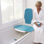 Self controlled reclining bath lift