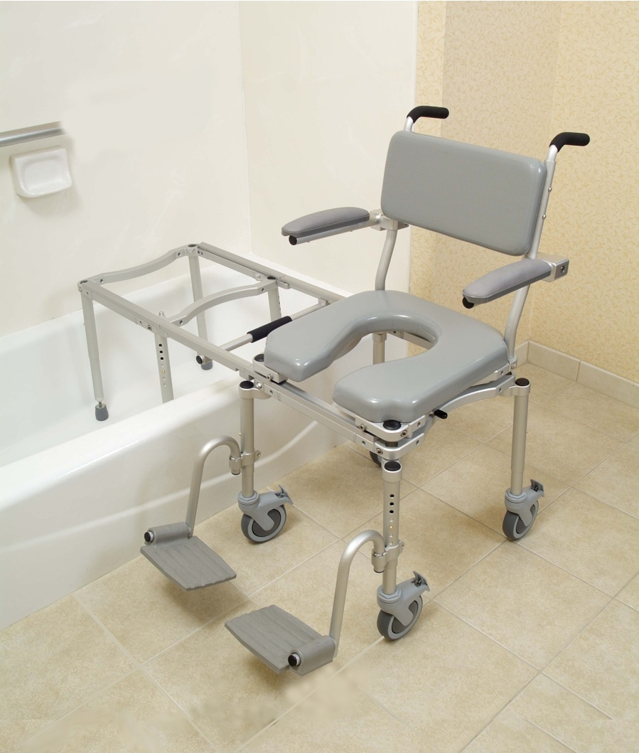 Sliding bathtub transfer bench