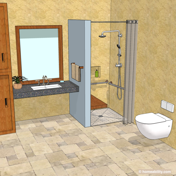 Accessible Bathrooms. Accessible Bathroom 3d Accessible Bathrooms  Homeability.com