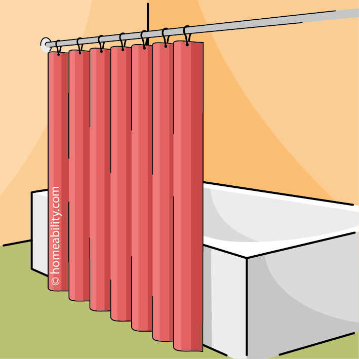 Shower Curtains for Accessible Tubs & Showers | homeability.com