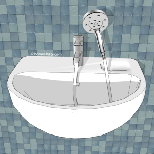 Handheld showerhead guide the basics - Shower head for kitchen sink ...